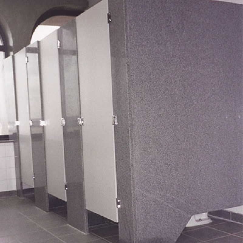 Divisória Banheiro Box de Granito Marapoama - Divisória Banheiro Granito Cinza