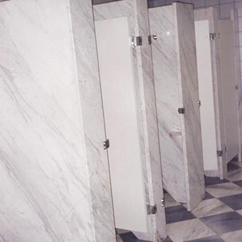 Divisória Banheiro Granito Cinza Araraquara - Divisória para Banheiro em Granito com Porta