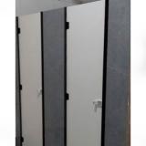 empresa de divisória de banheiro feito de granito cinza Araraquara